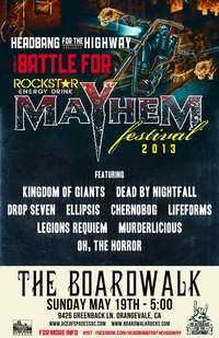 Come vote for bands to play on Mayhem