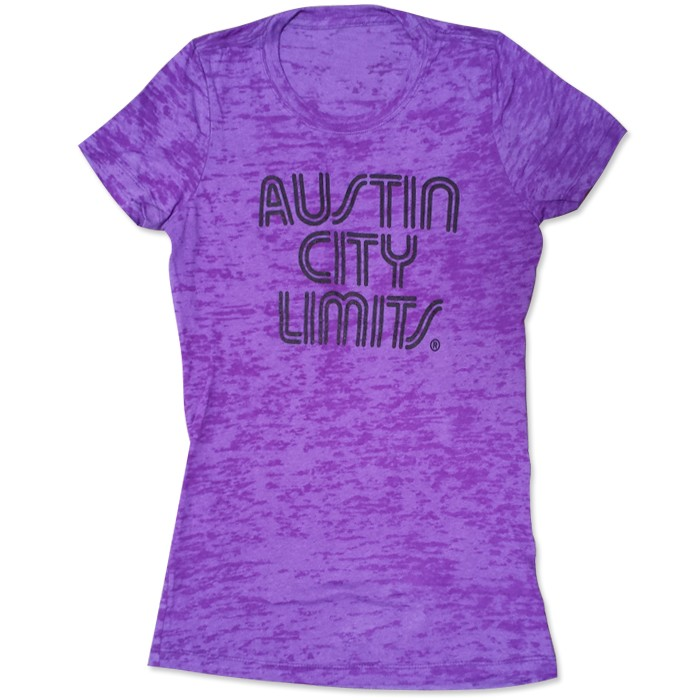 Women's Purple Burnout Shirt