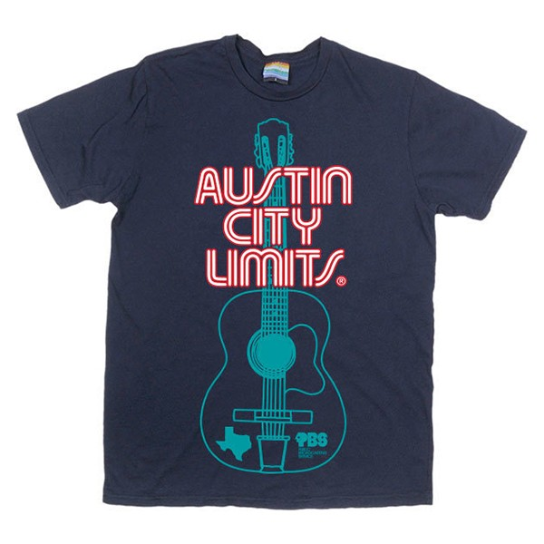 Men's Navy Shirt w/ Guitar