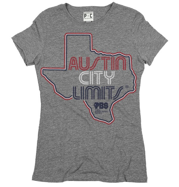 Womens Grey Shirt w/ Texas Outline