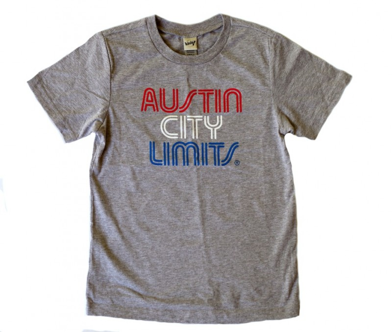 Youth Grey T-Shirt w/ Red, White & Blue Print