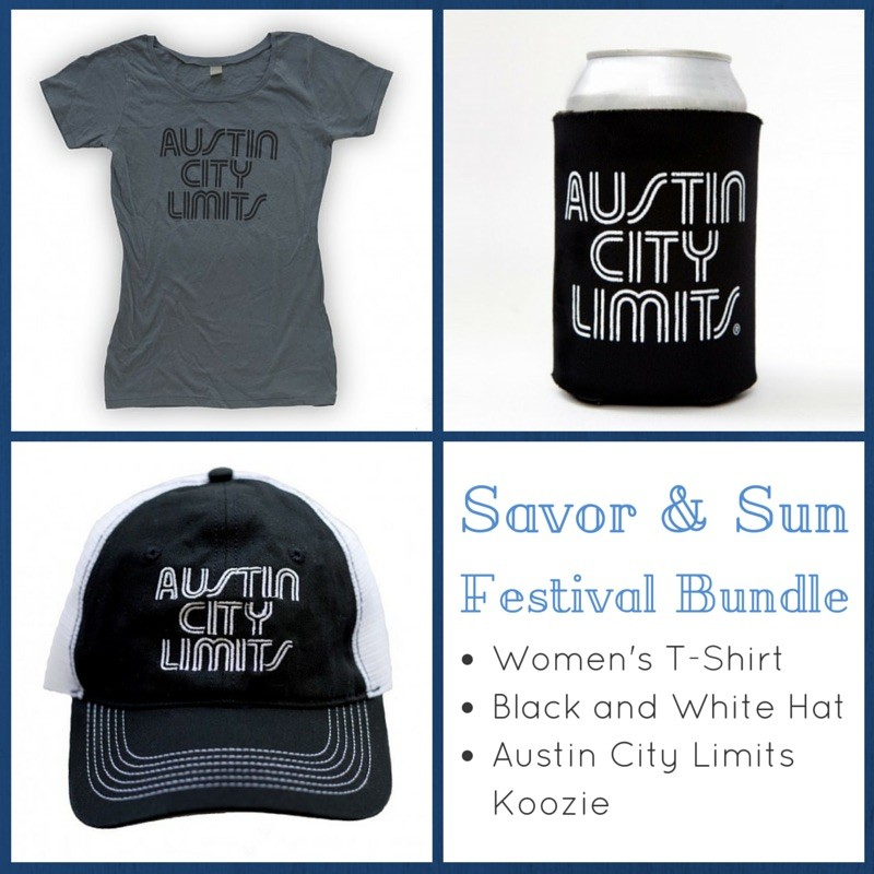Women's T-Shirt (Blue) + Black And White Mesh Trucker Hat + ACL Koozie