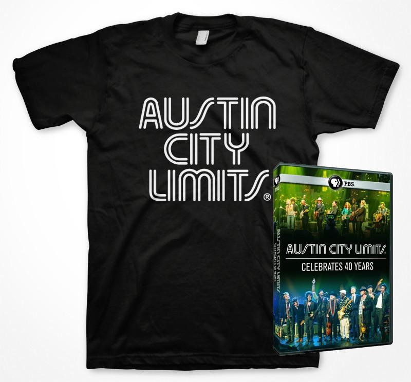 ACL Celebrates 40 Years DVD + Mens Shirt (Black) Bundle