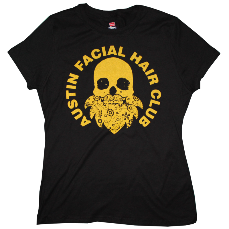 Austin Facial Hair Club T-Shirt (WOMENS)