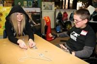 Avril visits the Avril Lavigne Rockstar Club at Easter Seals in Glendale, CA.