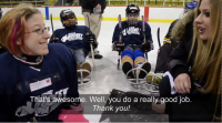 Avril Visits Easter Seals Sledge Hockey Program