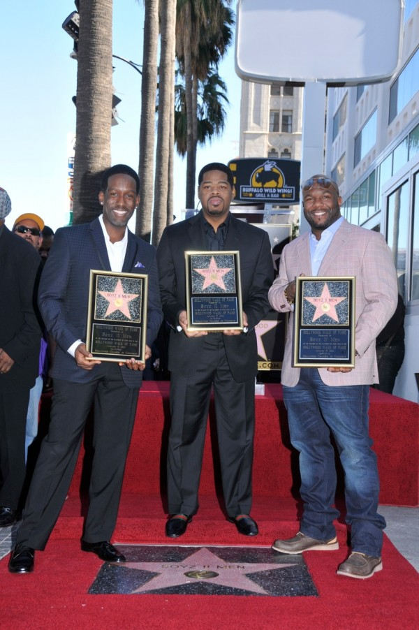 Boyz II Men's star is the 2,456th on the Walk of Fame