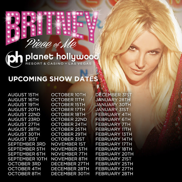 More 'Piece Of Me' Las Vegas Dates Added!