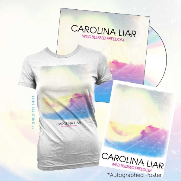 T-Shirt + Signed Print + Physical CD bundle - Women's image