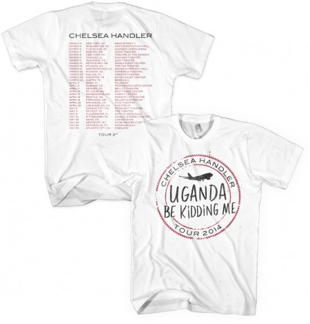Uganda Be Kidding Me Tour Stamp T-Shirt (White) image