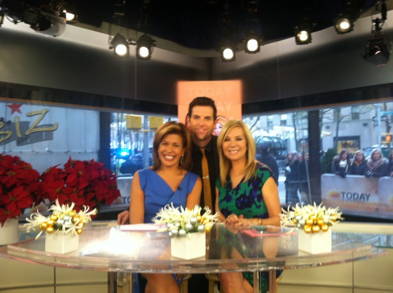 chatting with Kathy Lee and Hoda on The Today Show