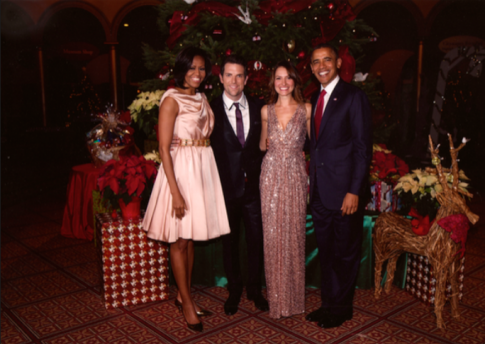 Meeting President and Mrs. Obama at my performance on Christmas in Washington!