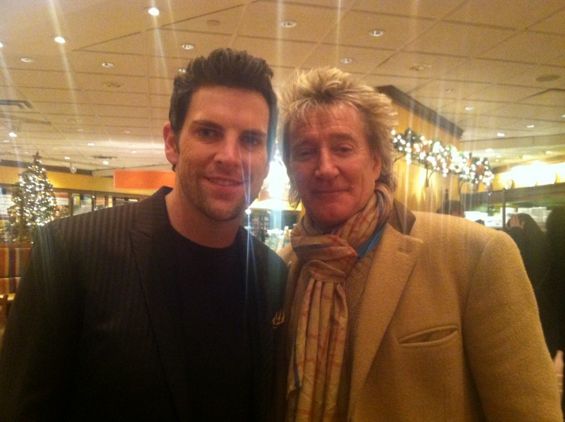 back stage with Rod Stewart at Rockefeller Christmas Tree Lighting