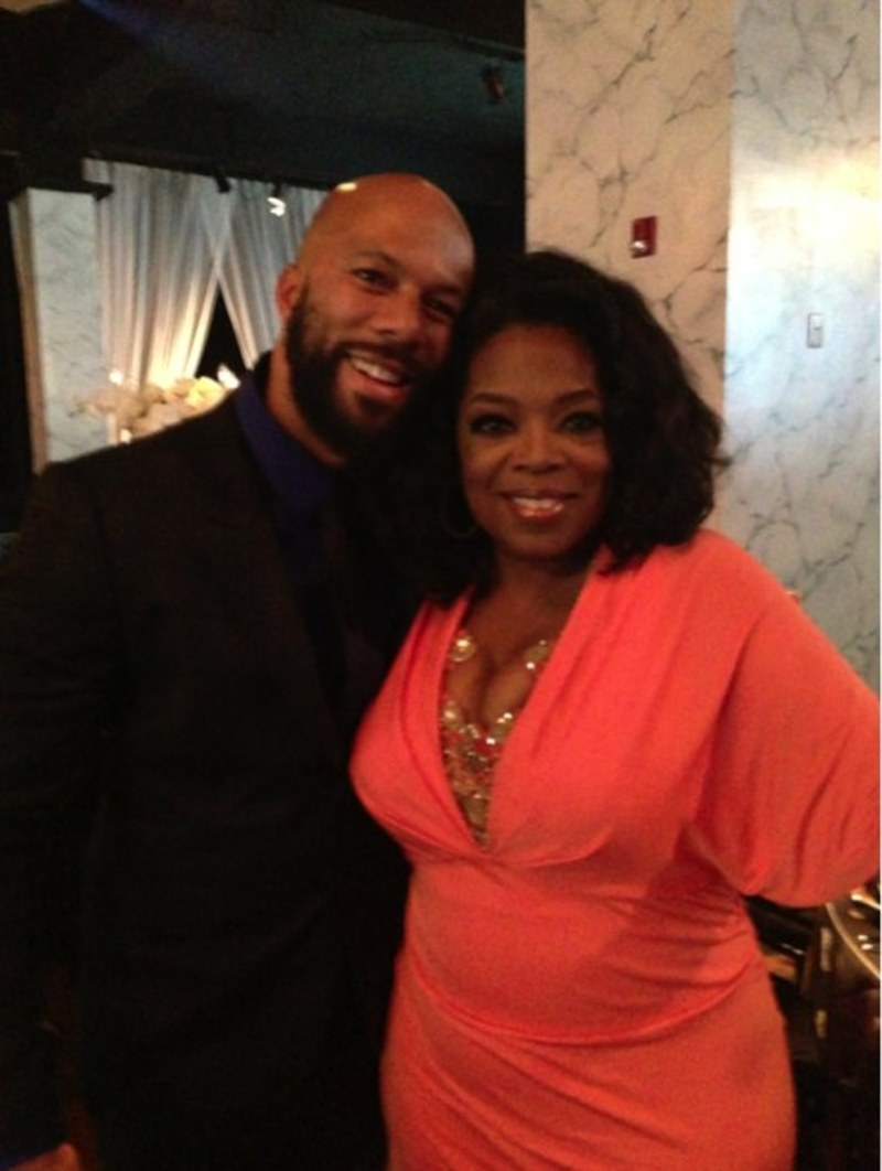 COMMON with Oprah at Dr. Maya Angelou's 85th birthday