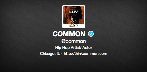 COMMON Wants to Follow YOU on Twitter! image