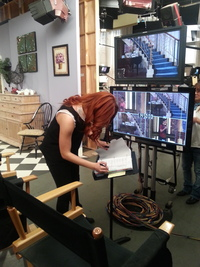Behind the Scenes - Debby Directing 'Jessie'