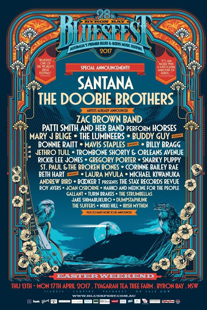 byron bay bluesfest 2017 doobie brothers. Black Bedroom Furniture Sets. Home Design Ideas