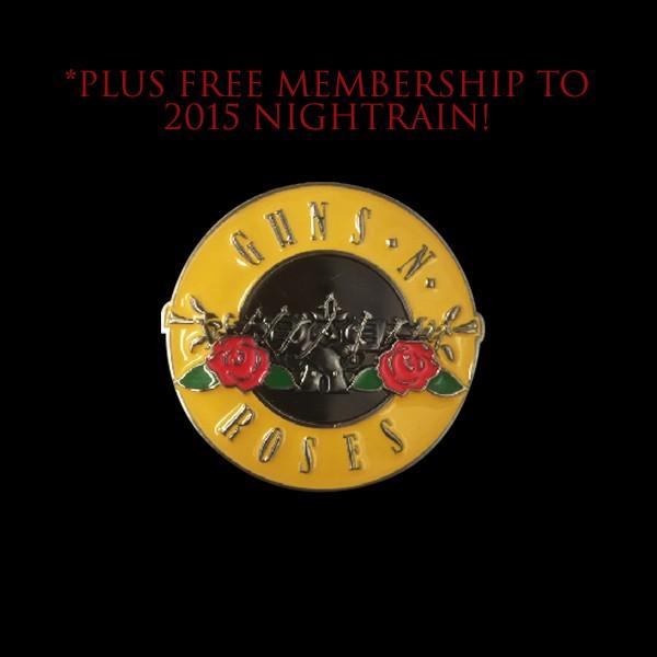 Guns N' Roses Classic Logo Belt Buckle + Free Membership