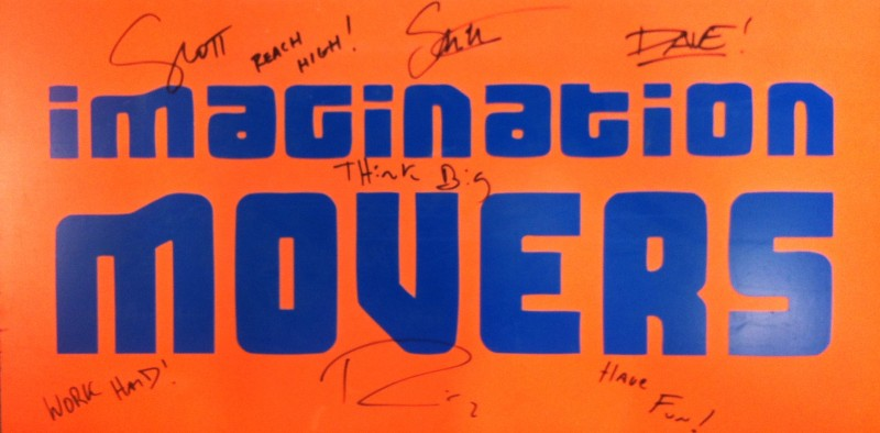 Signed Orange Sign