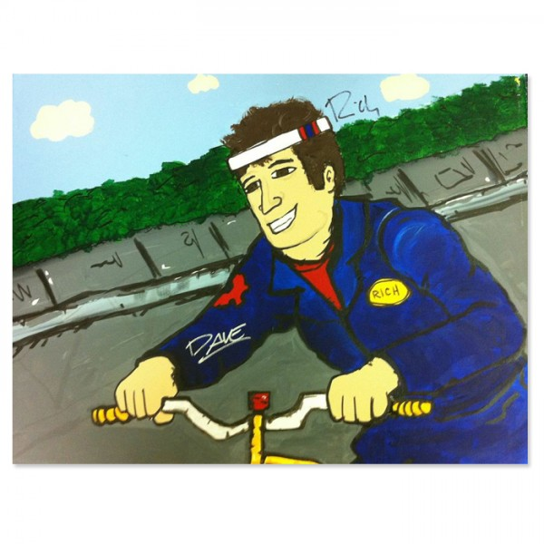 Mover Rich on Bike Painting  image