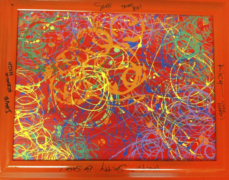Autographed Spiral Painting