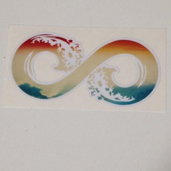 Multi-Colored Infinity Sticker