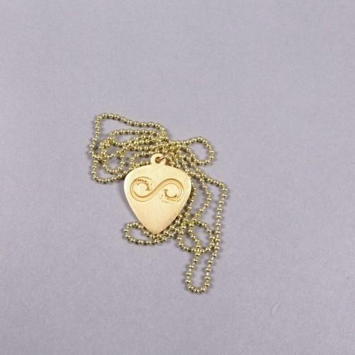 Jake Owen Gold Pick Necklace