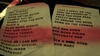Setlist from Oulu Finland 2012