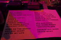 Setlist from Kristiansand Norway July 2012