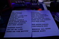 Setlist from Umea Sweden July 2012