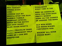 Setlist from Ziggo Dome Amsterdam July 2012