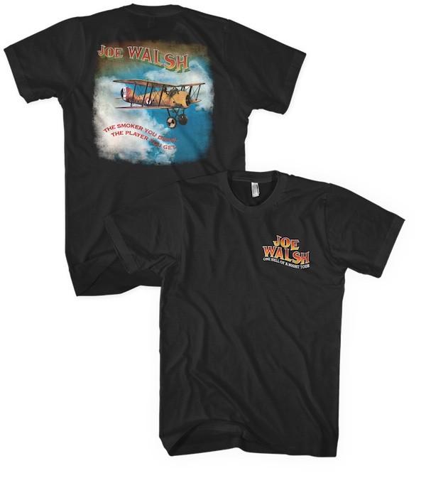 Joe Walsh One Hell of a Night 2016 Tour T-Shirt Black