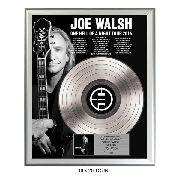 One Hell Of A Night Tour 2016 Gold Record Plaque