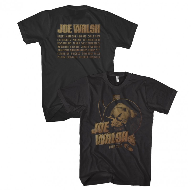Joe Walsh 2016 Tour T-Shirt Black
