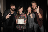 My tour mates are so sweet..surprised me with a Grammy cake!! Thank you, Lady Antebellum!!