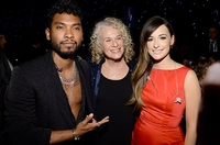 Miguel, honoree Carole King, and Kacey Musgraves attend the 2014 MusiCares Person Of The Year Honoring Carole King