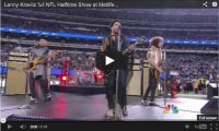 Lenny Kravitz full NFL Halftime Show at Metlife Stadium