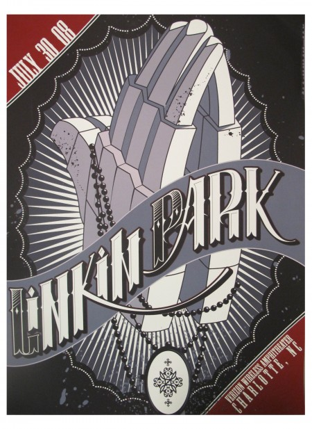 Linkin Park Tour Poster Charlotte, NC