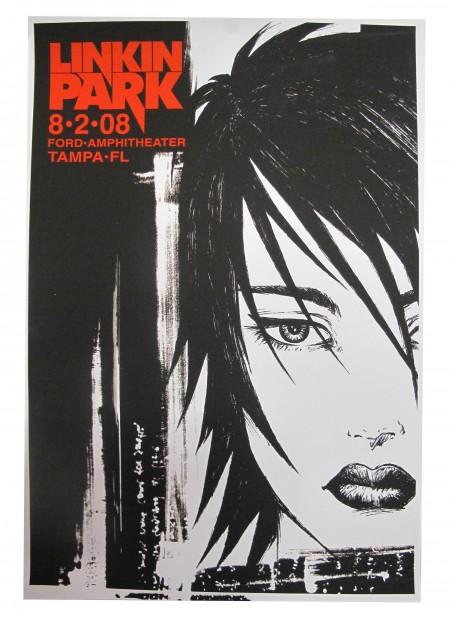 Linkin Park Tour Poster Tampa, FL