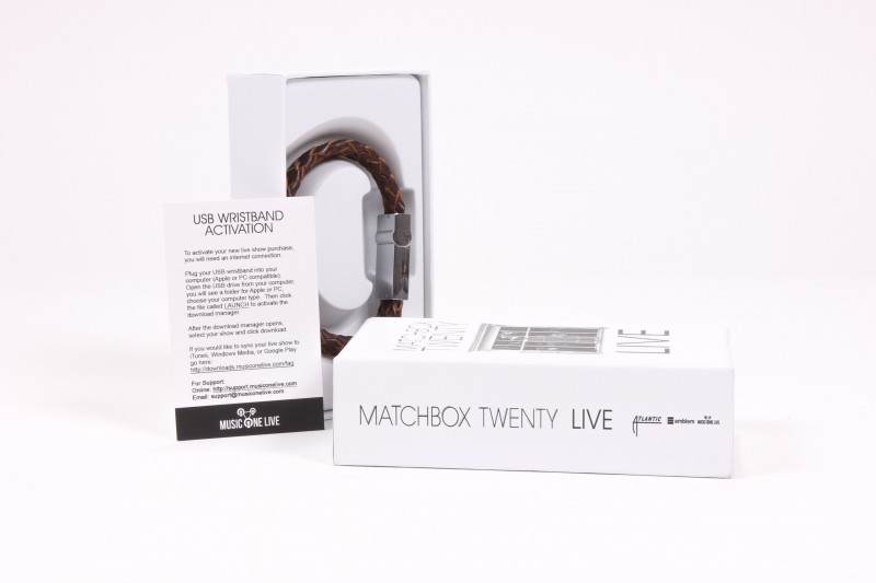 Matchbox Twenty USB Wristband