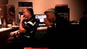 Stokley with Engineer Dave Darlington at Bass Hit Studios
