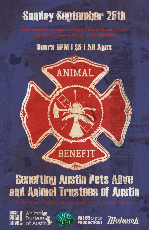 Benefitting Austin Pets Alive and Animal Trustees of Austin