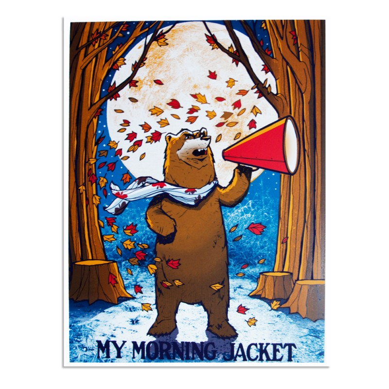 MMJ Bear Lithograph