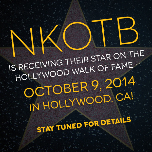 Image for UPDATED: NKOTB is Getting A Star on the Walk of Fame
