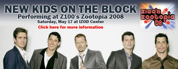 Image for NKOTB TO HEADLINE Z100'S ZOOTOPIA!