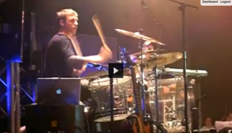 Nick Rocking Out on Drums in Munich!