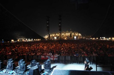 Getting ready to hit the stage in Abu Dhabi, 20000 strong!