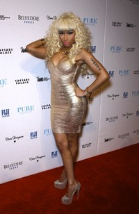Nicki Minaj celebrates New Years Eve at Pure Las Vegas