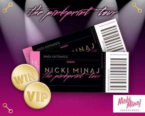 Nicki minaj news win vip tickets to see nicki minaj on thepinkprinttour 28th march at londons 02 arena plus a collection of nicki minaj fragrances m4hsunfo