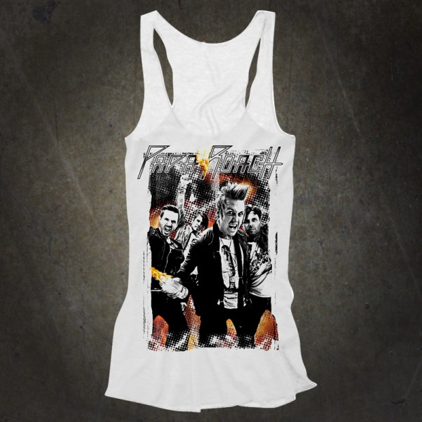 Light Up Girls White Tank Top